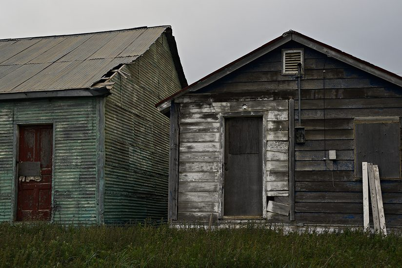 Two storage shacks; Tuktoyaktuk, NT